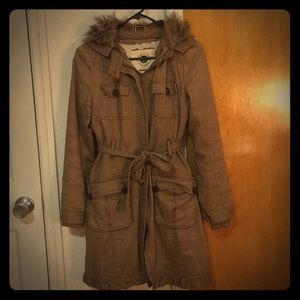 Anthropologie coat - removable hood & lining!